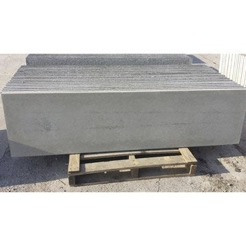 Plaque pour clôture droite en béton pleine, L.192 x H.50 cm x Ep.35 mm