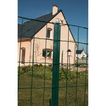 Grillage soudé vert H.1 x L.20 m, maille de H.100 x l.100 mm