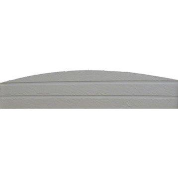 Plaque pour clôture cintrée en imitation bois pleine, L.192 x H.28 cm x Ep.33 mm