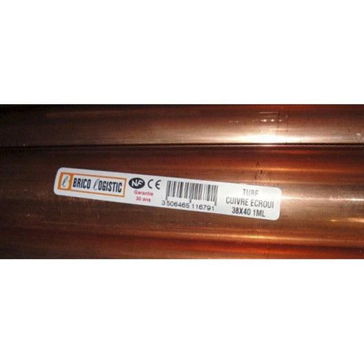 tube d 39 alimentation en cuivre croui diam 40 mm en barre en 1 m leroy merlin. Black Bedroom Furniture Sets. Home Design Ideas