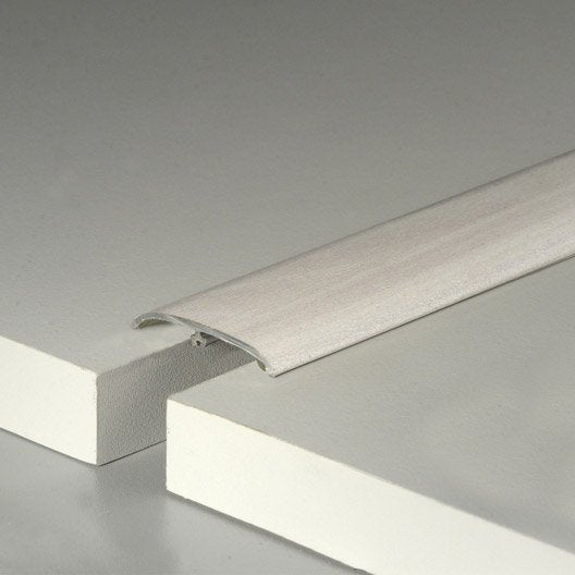 barre de seuil pour sol stratifi blanc lily cm x mm leroy merlin. Black Bedroom Furniture Sets. Home Design Ideas