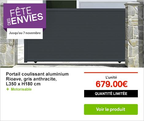OP Fête des envie portail coullisant aluminium rioave