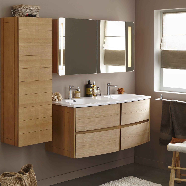 meuble de salle de bains plus de 120 marron fairway