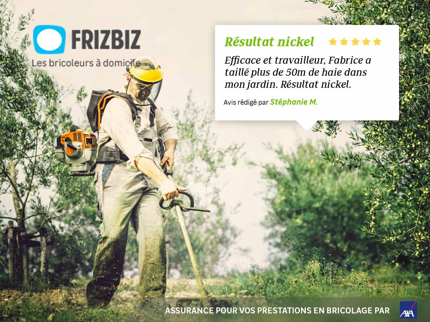 Estimez et faites entretenir votre jardin par les jardiniers Frizbiz