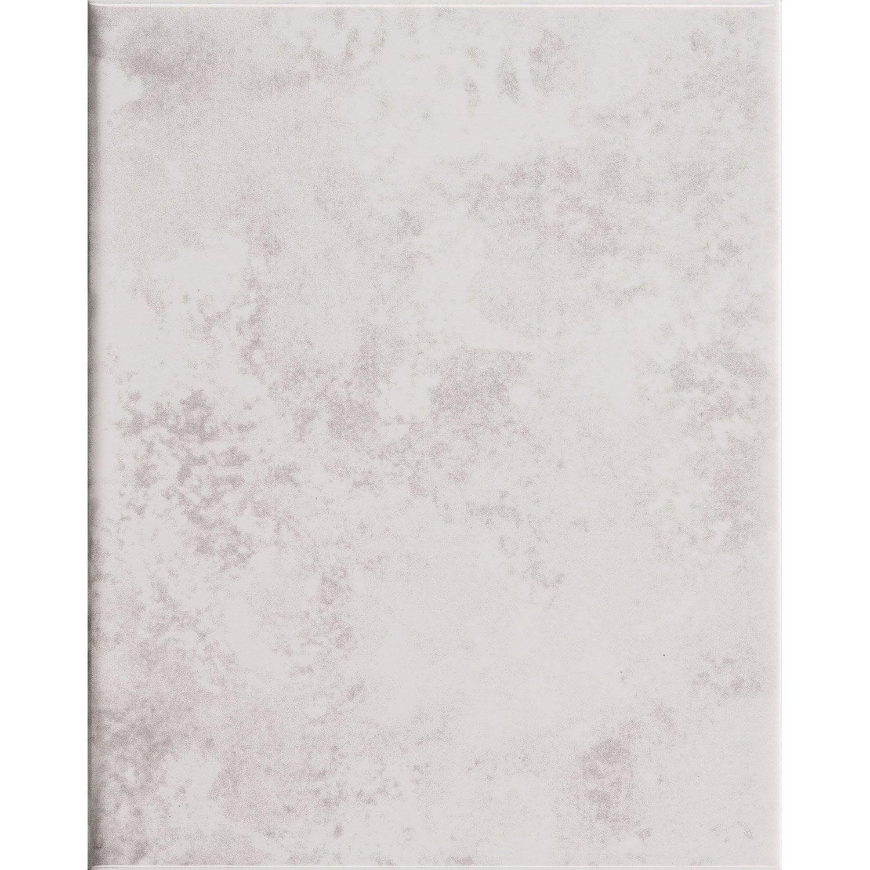 Faïence mur marbre blanc brillant l.20 x L.25 cm, Primo