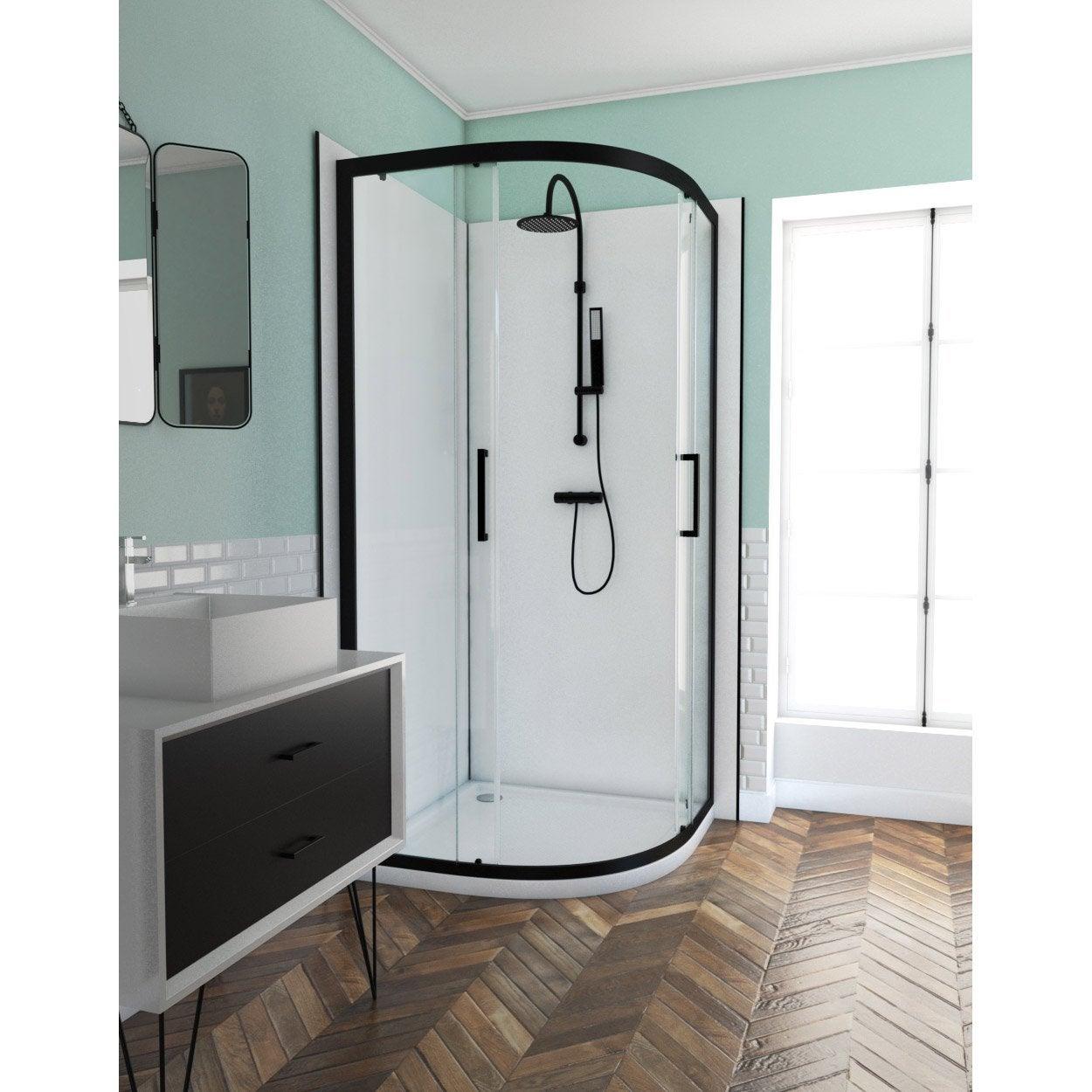 porte de douche coulissante 90 cm transparent factory