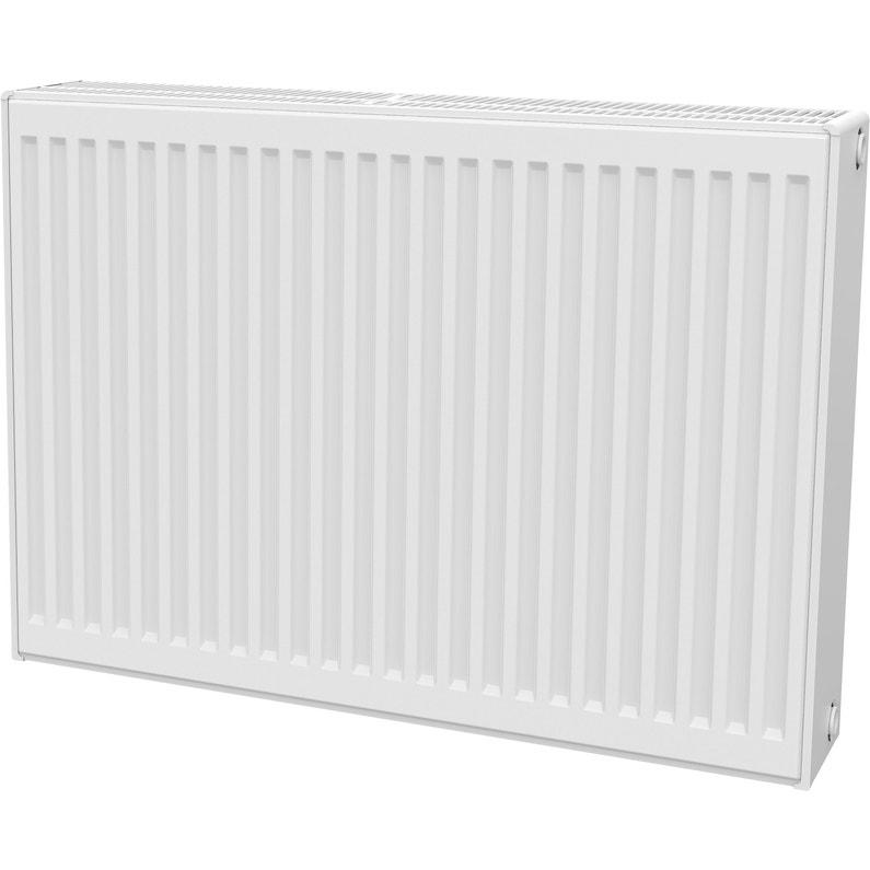 radiateur chauffage central panneau horizontal blanc l 80 cm 1963 w leroy merlin