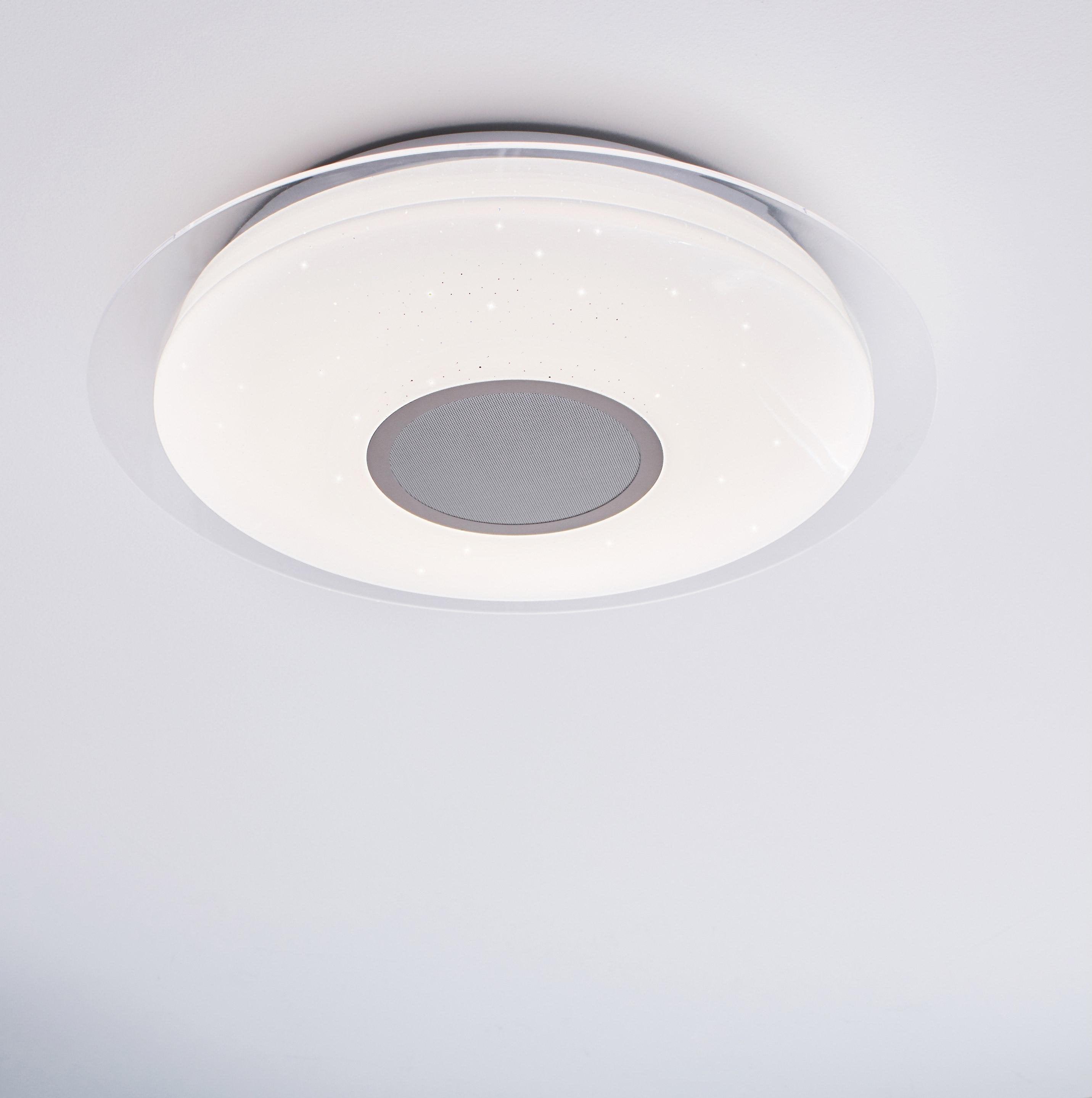 Plafonnier connecté, led intégrée, blanc chaud blanc froid Vizzini D.40 cm