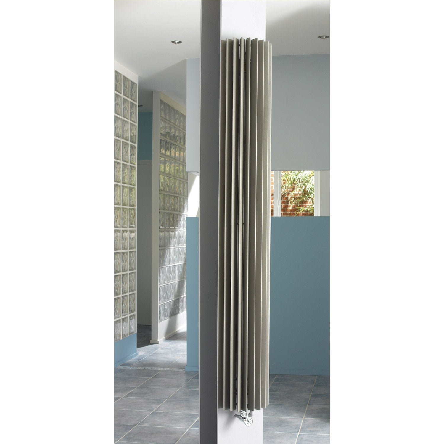 radiateur chauffage central iguana circo gris sabl cm 1009 w leroy merlin. Black Bedroom Furniture Sets. Home Design Ideas