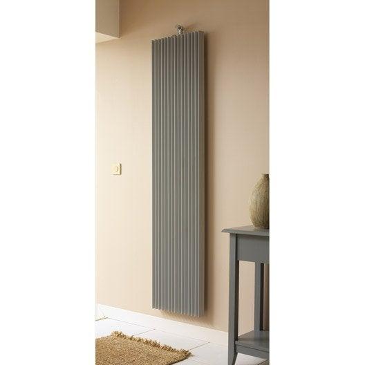 radiateur chauffage central iguana aplano gris sabl cm 733 w leroy merlin. Black Bedroom Furniture Sets. Home Design Ideas