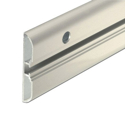rail aluminium brut l 1 m x l 6 cm leroy merlin. Black Bedroom Furniture Sets. Home Design Ideas