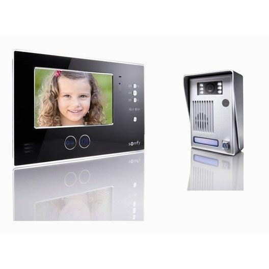 interphone visiophone 2 fils somfy v200 leroy merlin. Black Bedroom Furniture Sets. Home Design Ideas