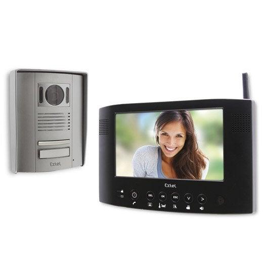 interphone visiophone sans fils extel weva 2 leroy merlin. Black Bedroom Furniture Sets. Home Design Ideas