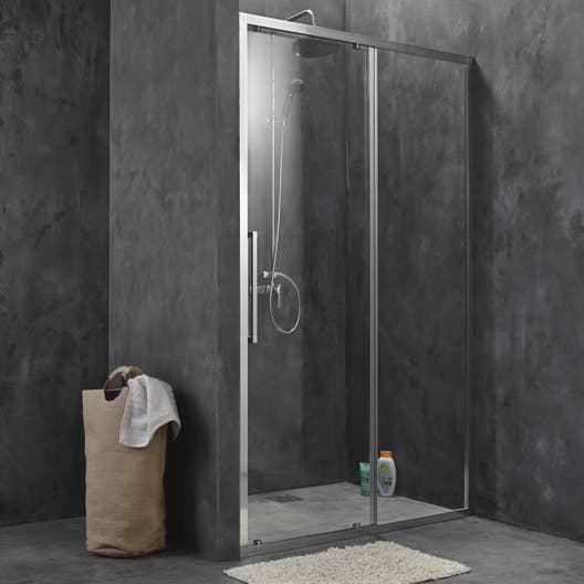 porte de douche coulissante 140 cm transparent purity3 leroy merlin. Black Bedroom Furniture Sets. Home Design Ideas