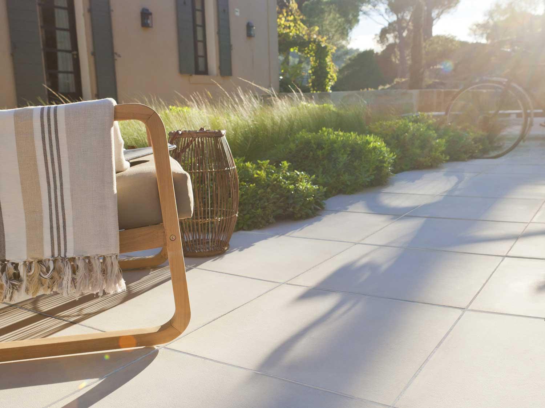 Dalle gr s c rame pleine masse siena bois marron x - Mousse sur terrasse beton ...