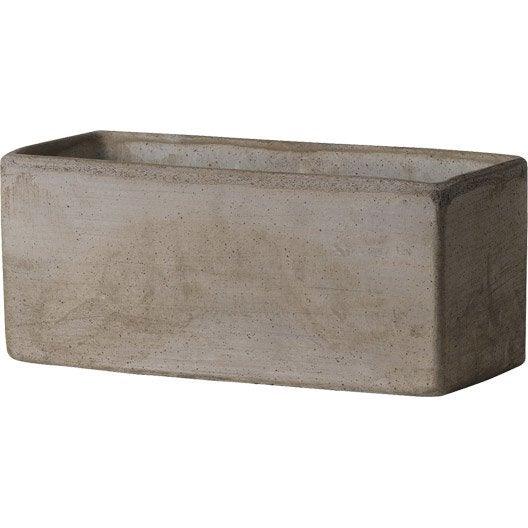 jardini re terre cuite deroma x x cm terre cuite grise leroy merlin. Black Bedroom Furniture Sets. Home Design Ideas