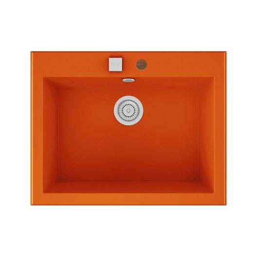 Evier a encastrer quartz et resine orange shira 1 cuve for Voir ma maison en 3d 12 evier 224 encastrer quartz et resine blanc shira 1 cuve