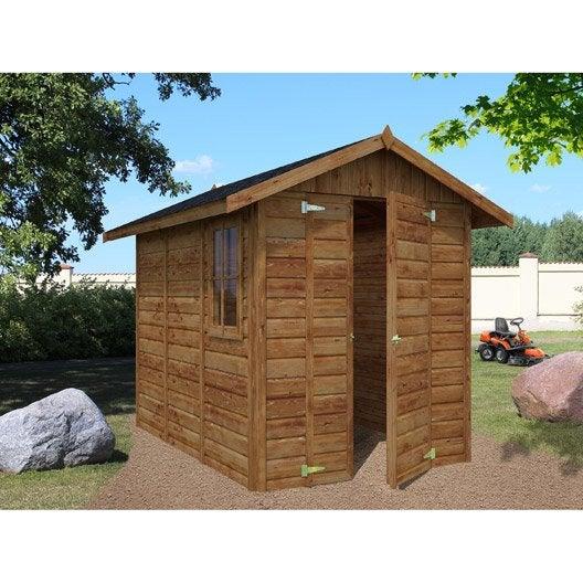 Abri de jardin bois nantua m mm leroy merlin for Abri de jardin en bois la redoute