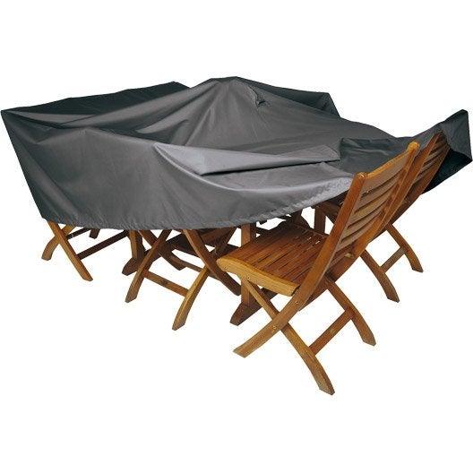 housse de protection pour table naterial l.200 x l.130 x h.60 cm
