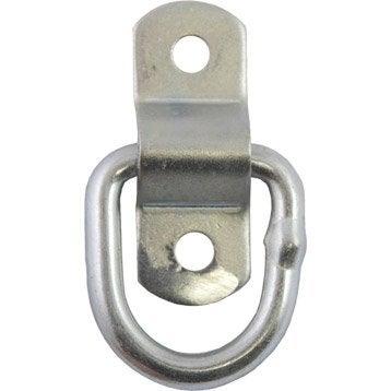 Lot de 2 anneaux acier zingué, L.54 x l.20 x Ep.6.4 mm