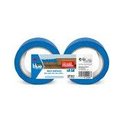 Lot de 2 rouleaux adhésifs SCOTCH BLUE masquage multisurface L40m x l48mm, bleu