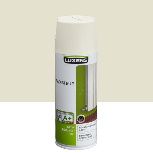 Peinture a rosol satin luxens blanc ivoire n 3 0 4 l leroy merlin - Peinture blanc ivoire ...