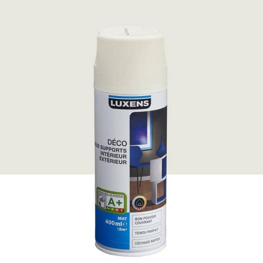 Peinture a rosol mat luxens blanc ivoire n 5 0 4 l leroy merlin - Blanc comme l ivoire ...