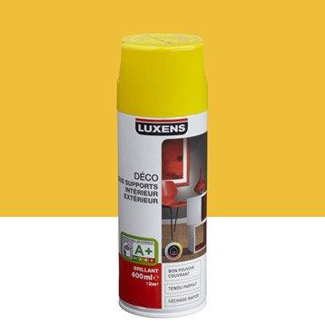 Peinture aérosol brillant LUXENS, jaune anis n°4, 0.4 l