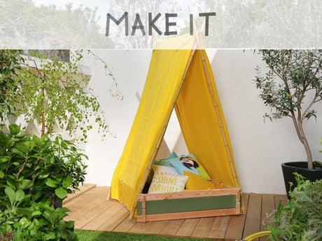 fabriquer une tente de jeux pour enfants leroy merlin. Black Bedroom Furniture Sets. Home Design Ideas