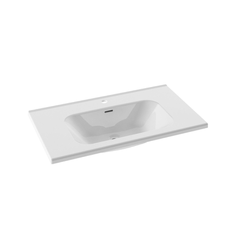 plan vasque simple opale c ramique 81 cm leroy merlin. Black Bedroom Furniture Sets. Home Design Ideas