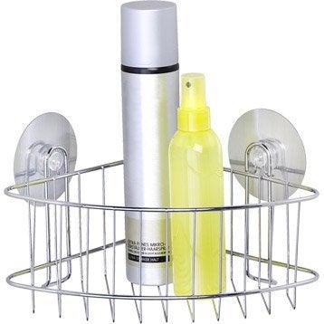 Panier de bain / douche électrostatique, chromé, Static loc