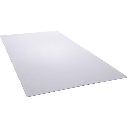 Plaque polyéthylène transparent lisse, L.200 x l.100 cm x Ep.4 mm