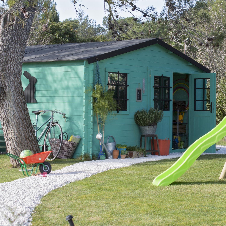 Abri de jardin bois Alby, 13.91 m² Ep.34 mm | Leroy Merlin