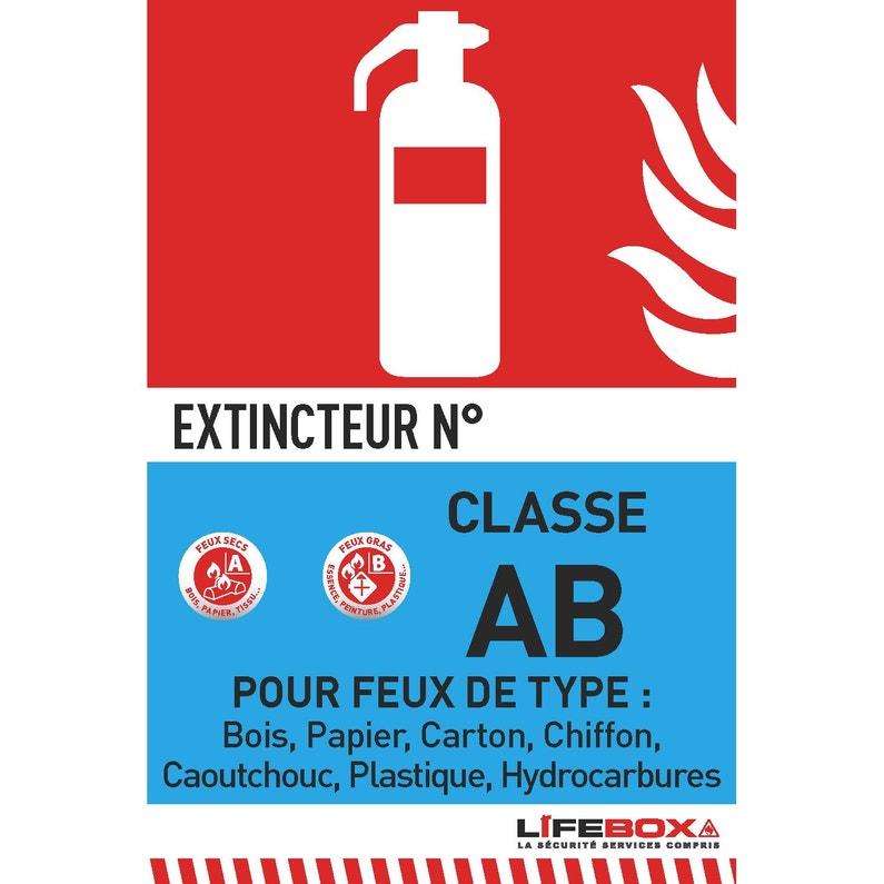 Panneau De Signalétique Extincteur Classe Ab Lifebox Pvc