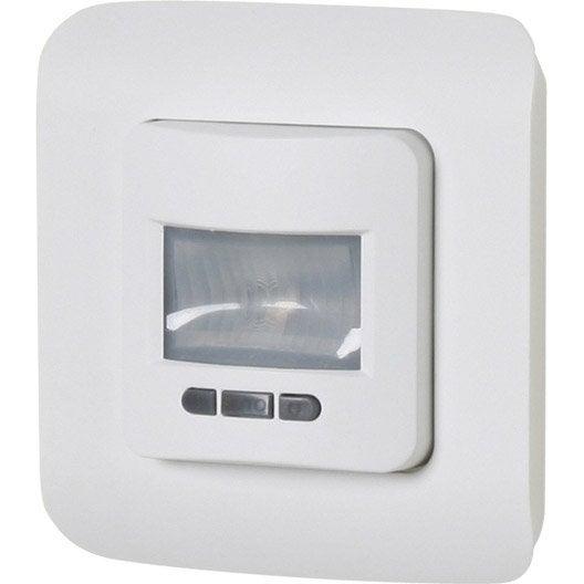 interrupteur automatique encastrable blanc lexman cosy leroy merlin. Black Bedroom Furniture Sets. Home Design Ideas
