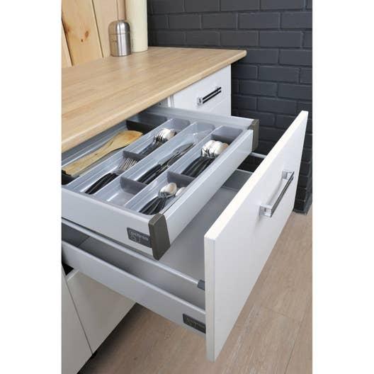 Tiroir l 39 anglaise pour casserolier pour meuble cm delinia leroy merlin - Amenagement interieur tiroir cuisine ...