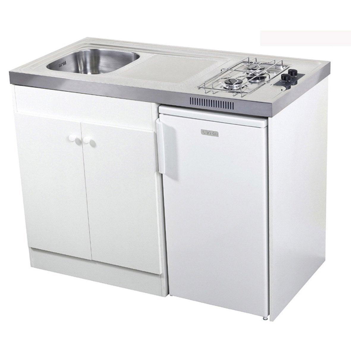 kitchenette gaz blanc spring x x cm leroy merlin. Black Bedroom Furniture Sets. Home Design Ideas