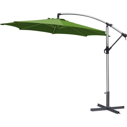Parasol d port florence vert rond x cm leroy merlin - Canvas pvc witte leroy merlin ...