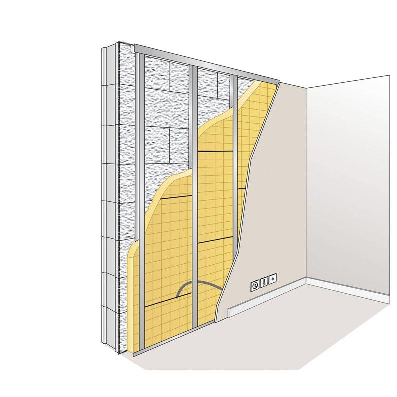 panneau en laine de verre gr 32 kraft isover. Black Bedroom Furniture Sets. Home Design Ideas