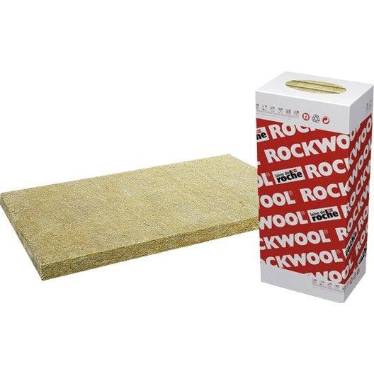 10 panneaux en laine de roche alpharock rockwool for Prix laine de roche