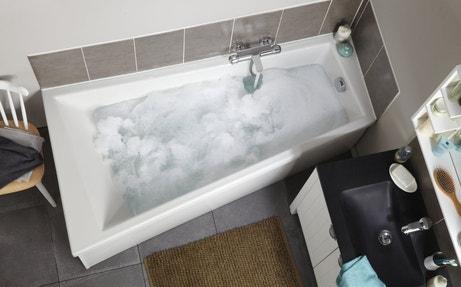 Une baignoire asymétrique