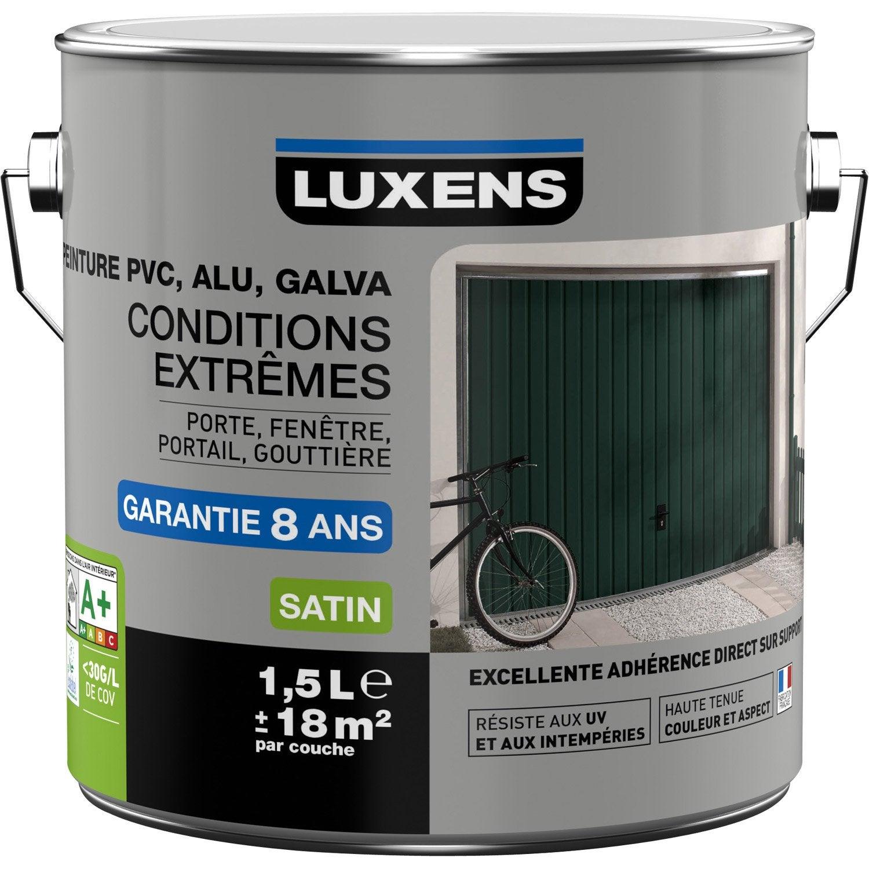 Peinture PVC/alu/galva Extérieur Conditions Extrêmes LUXENS, Blanc N°0, ...