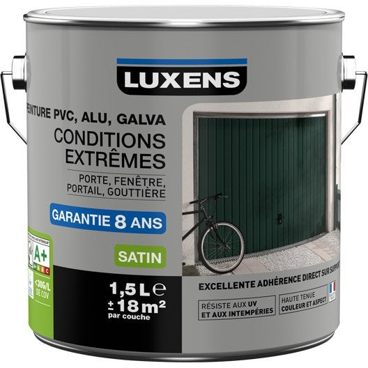 Peinture pvc aluminium galva ext rieur luxens blanc for Peinture revetement exterieur aluminium