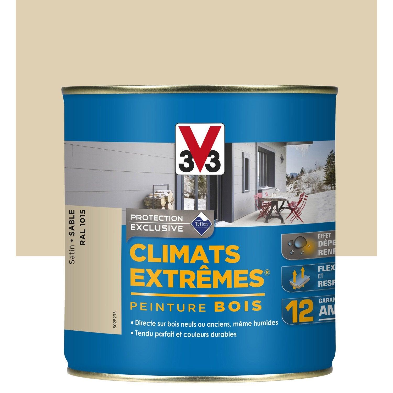 peinture bois ext rieur climats extr mes v33 sable 0 5 l leroy merlin. Black Bedroom Furniture Sets. Home Design Ideas