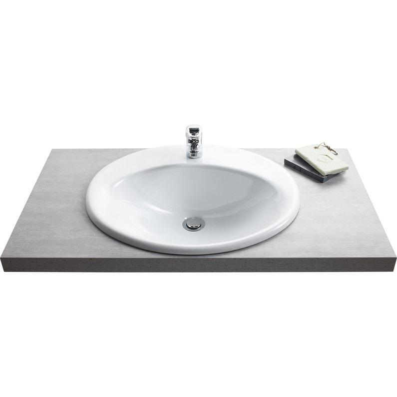 Vasque à Encastrer Céramique L 56 X P 48 Cm Blanc Olympe