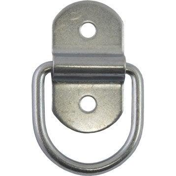 Lot de 2 anneaux acier zingué, L.58 x l.32 x Ep.5.5 mm
