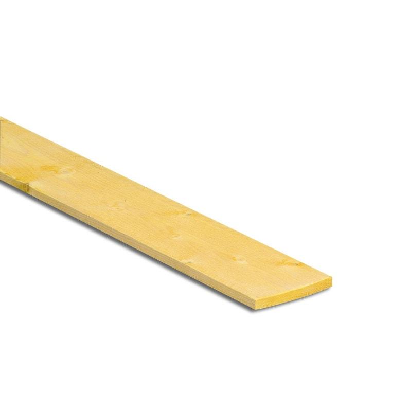 Planche Sapin épicéa Traité 27x80 Mm Longueur 3 M Choix 2 Classe 2