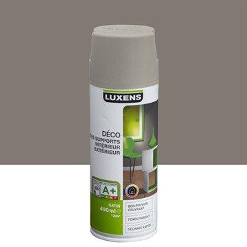 Peinture aérosol satin LUXENS, brun taupe n°3, 0.4 l