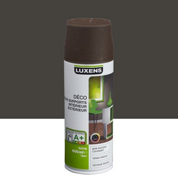 Peinture aérosol satin LUXENS, brun chocolat n°1, 0.4 l