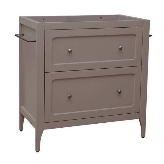 Meuble sous vasque x x cm taupe ashley for Meuble ashley